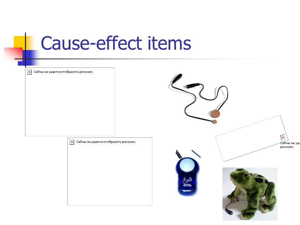 Cause-effect items