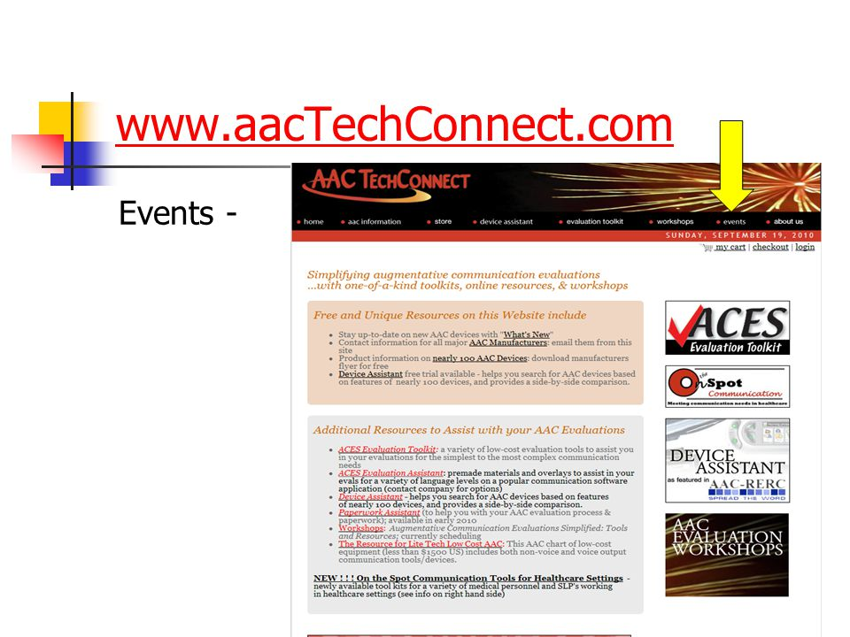 www.aacTechConnect.com Events -