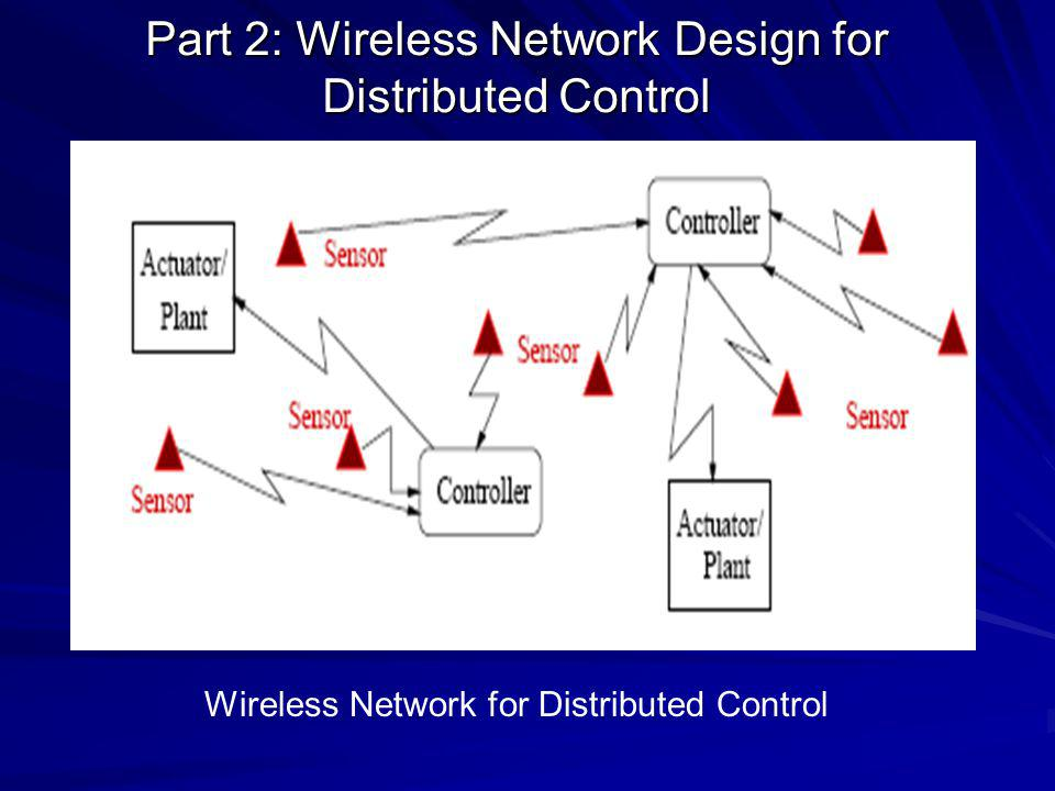Wireless Network for Distributed Control Part 2: Wireless Network Design for Distributed Control