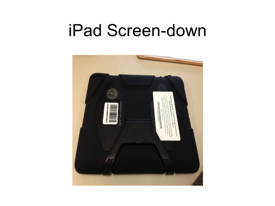 iPad Screen-down