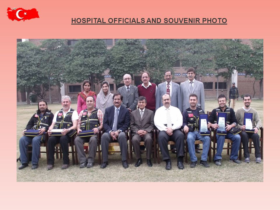 HOSPITAL OFFICIALS AND SOUVENIR PHOTO