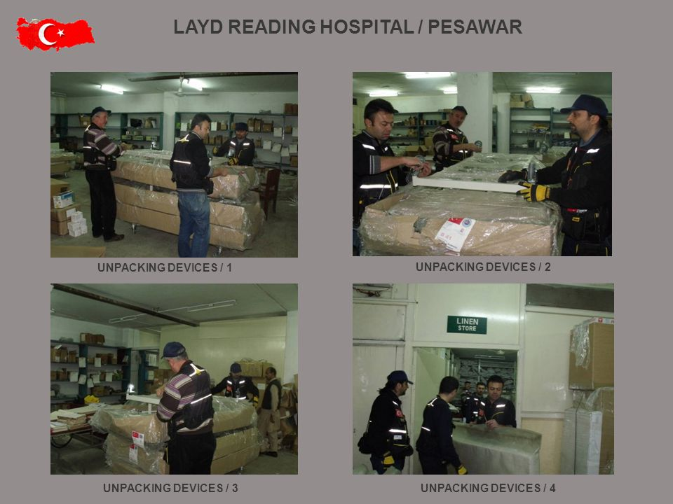 UNPACKING DEVICES / 1 UNPACKING DEVICES / 2 UNPACKING DEVICES / 4UNPACKING DEVICES / 3 LAYD READING HOSPITAL / PESAWAR