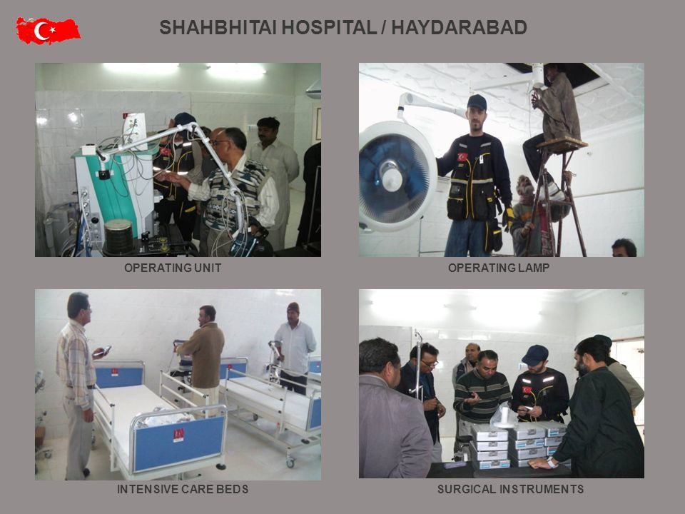 OPERATING UNIT INTENSIVE CARE BEDSSURGICAL INSTRUMENTS OPERATING LAMP SHAHBHITAI HOSPITAL / HAYDARABAD