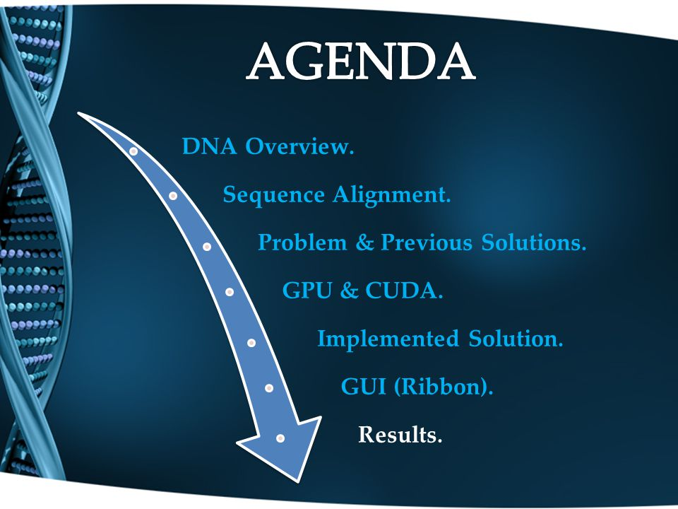 DNA Overview. Sequence Alignment. Problem & Previous Solutions.