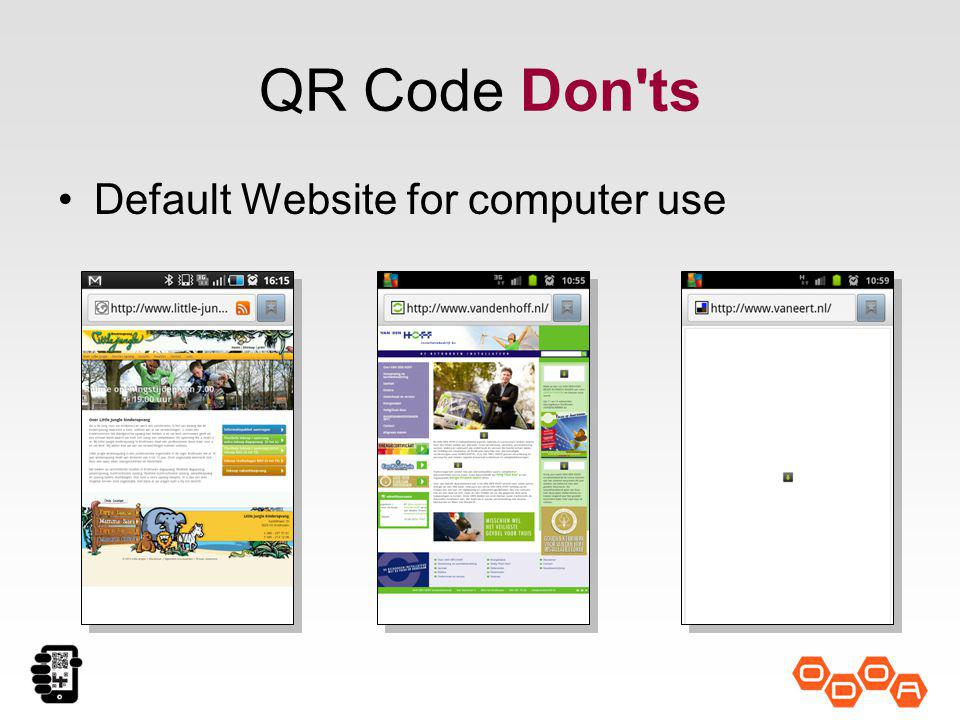 QR Code Don ts Default Website for computer use