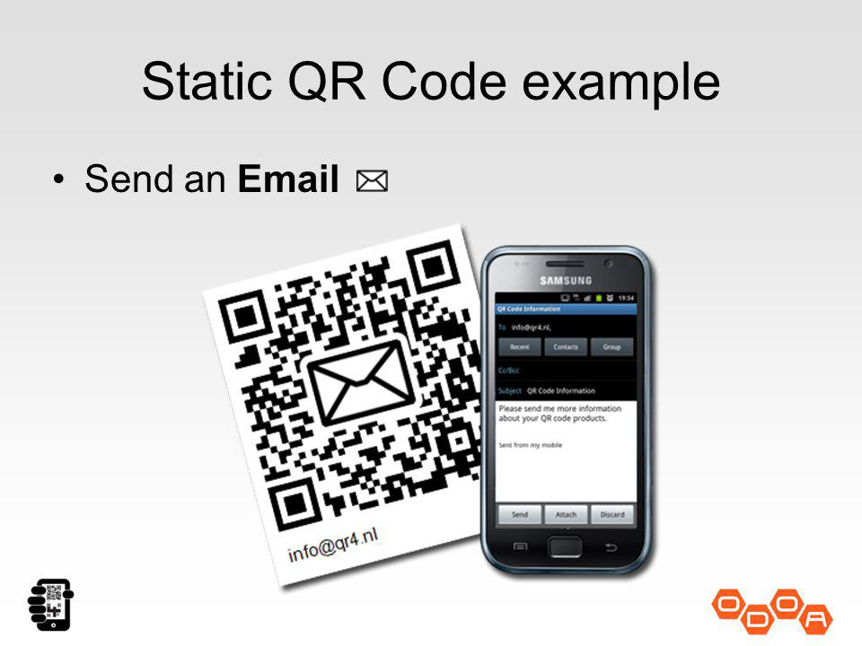 Static QR Code example Send an Email