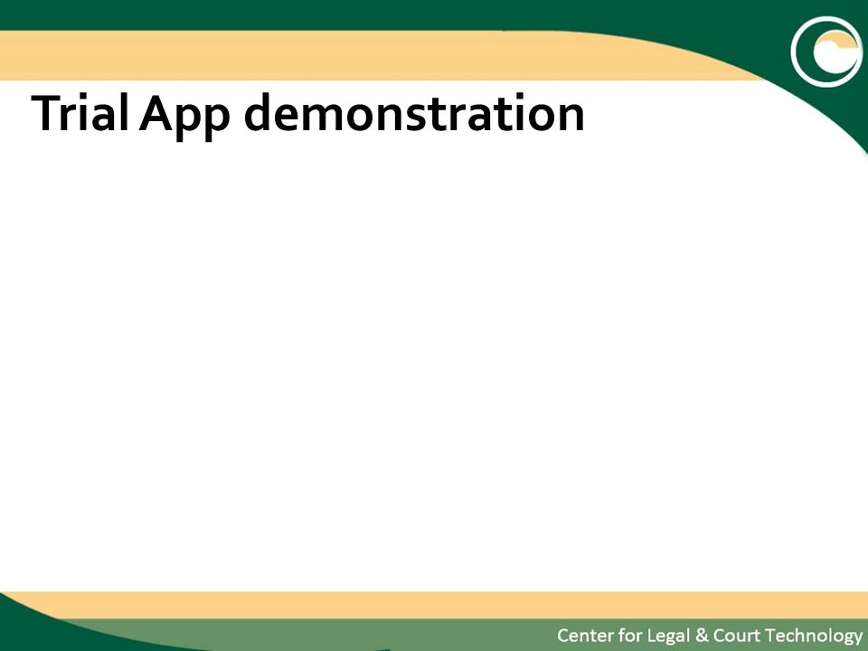 Trial App demonstration