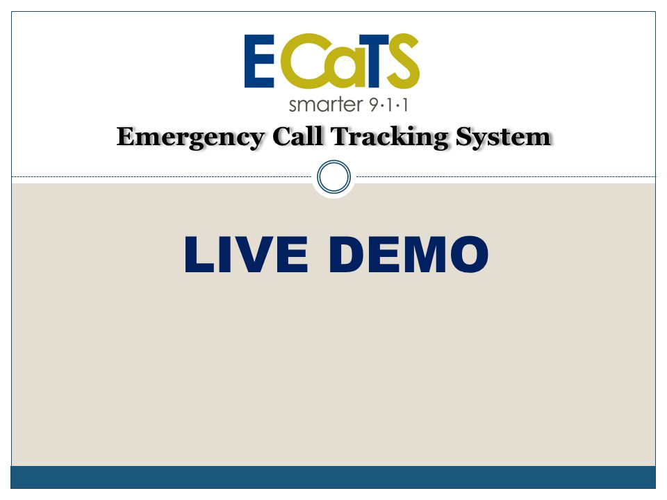 Emergency Call Tracking System LIVE DEMO