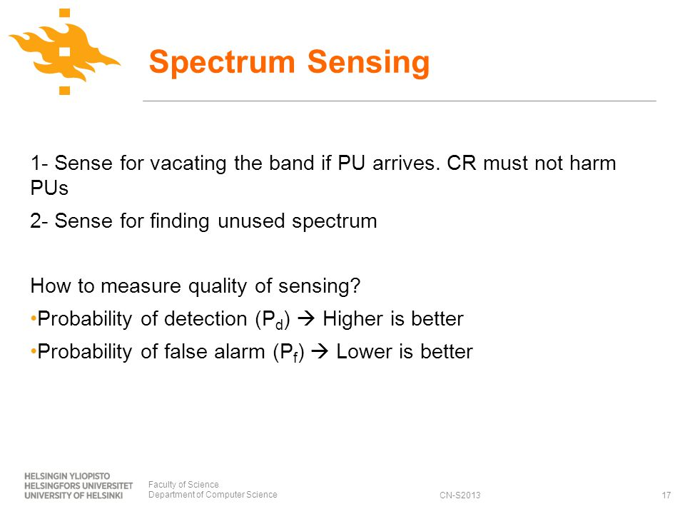 CN-S2013 1- Sense for vacating the band if PU arrives.
