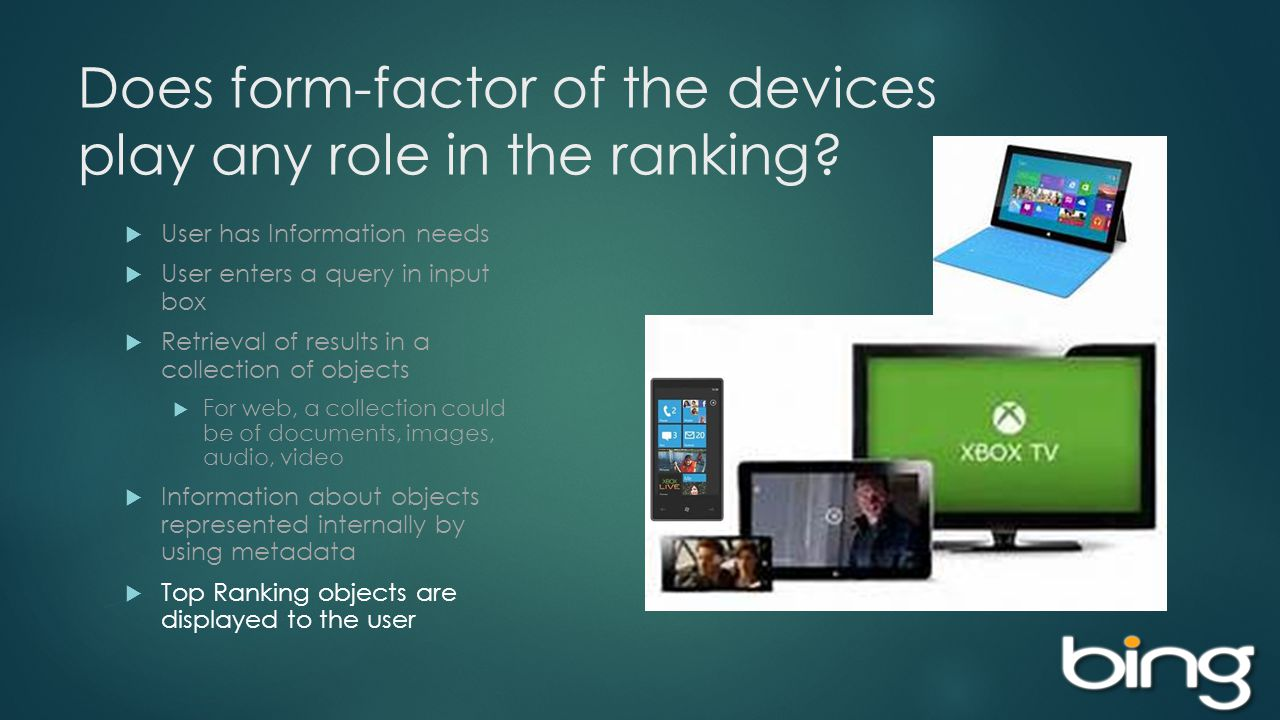 Does form-factor of the devices play any role in the ranking.