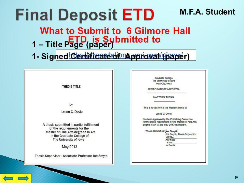 uiowa thesis first deposit