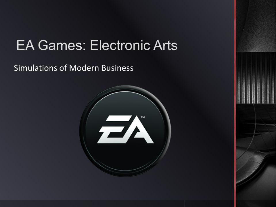 EA Games: Electronic Arts Simulations of Modern Business