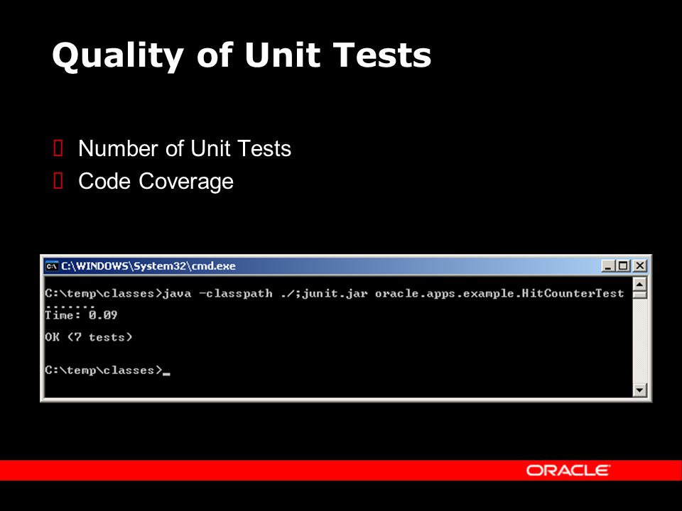 Quality of Unit Tests Number of Unit Tests Code Coverage