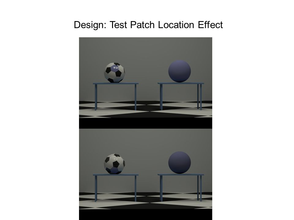 Design: Test Patch Location Effect