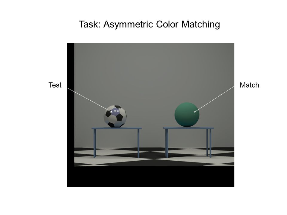 Task: Asymmetric Color Matching TestMatch