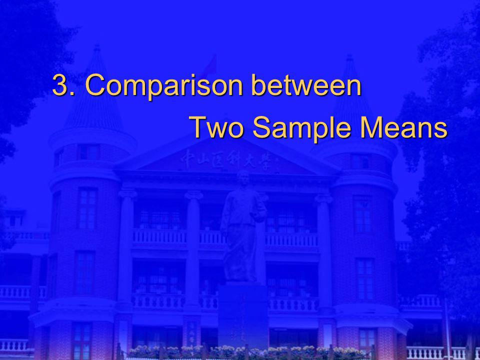 3. Comparison between Two Sample Means Two Sample Means