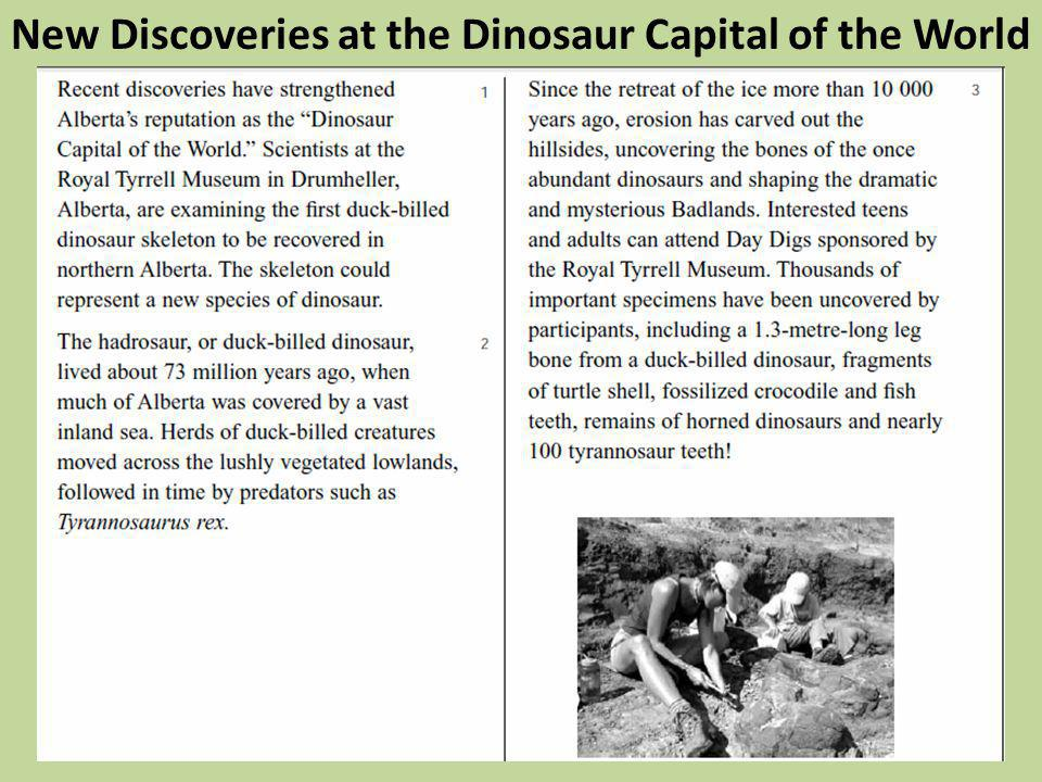 New Discoveries at the Dinosaur Capital of the World