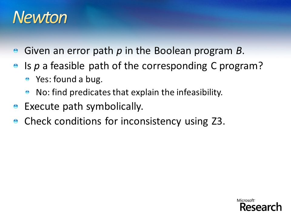 Given an error path p in the Boolean program B.