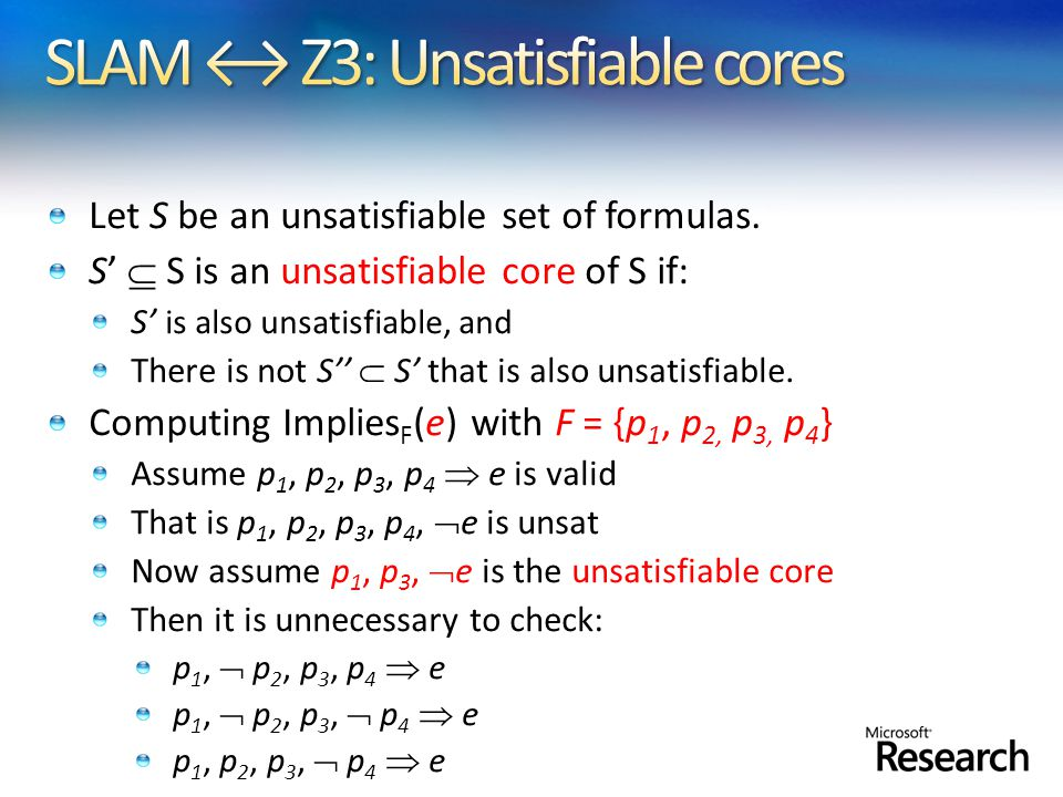 Let S be an unsatisfiable set of formulas.