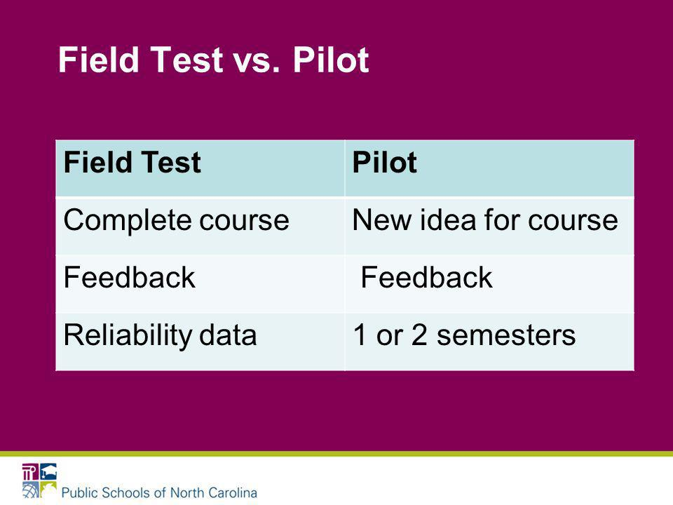 Field Test vs.