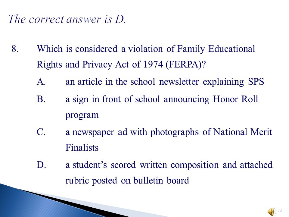 7.Which of these would be considered an administrative error.