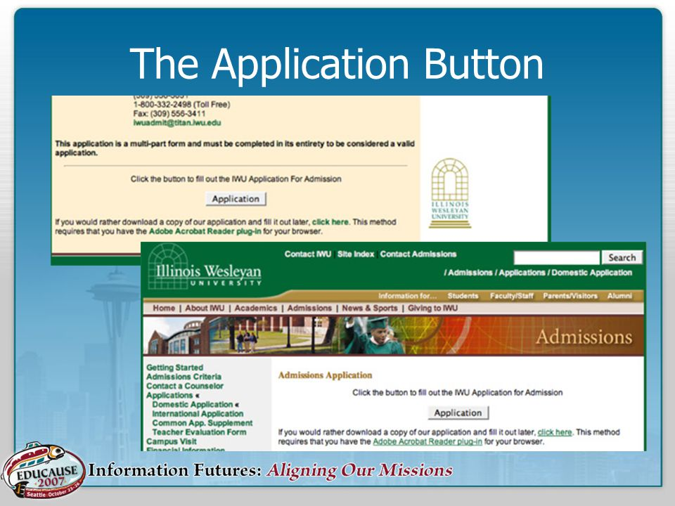 The Application Button