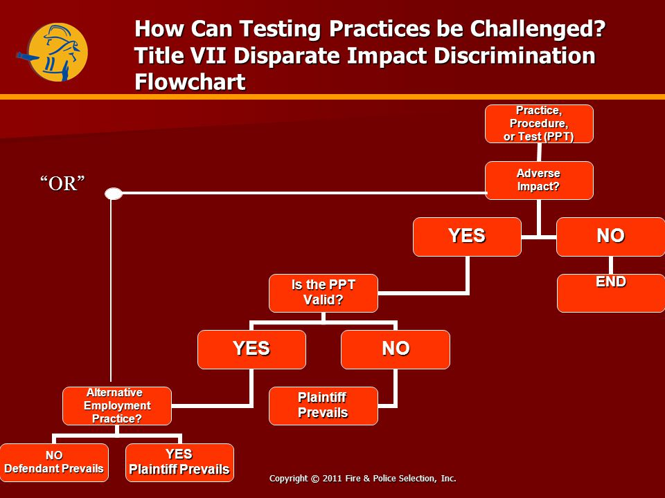 Copyright © 2011 Fire & Police Selection, Inc. How Can Testing Practices be Challenged.