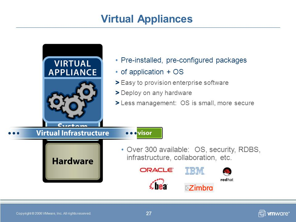 27 Copyright © 2006 VMware, Inc. All rights reserved.