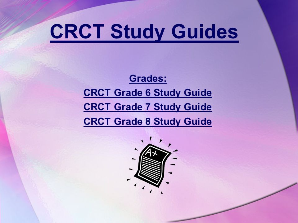 HAPPY TESTING THE CRCT BEGINS APRIL 23, 2014