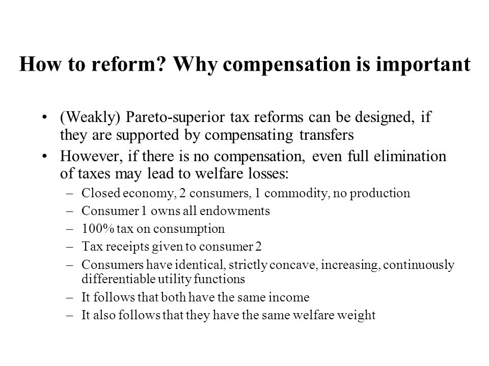 How to reform.