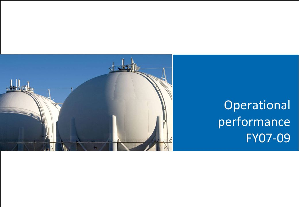 Operational performance FY07-09