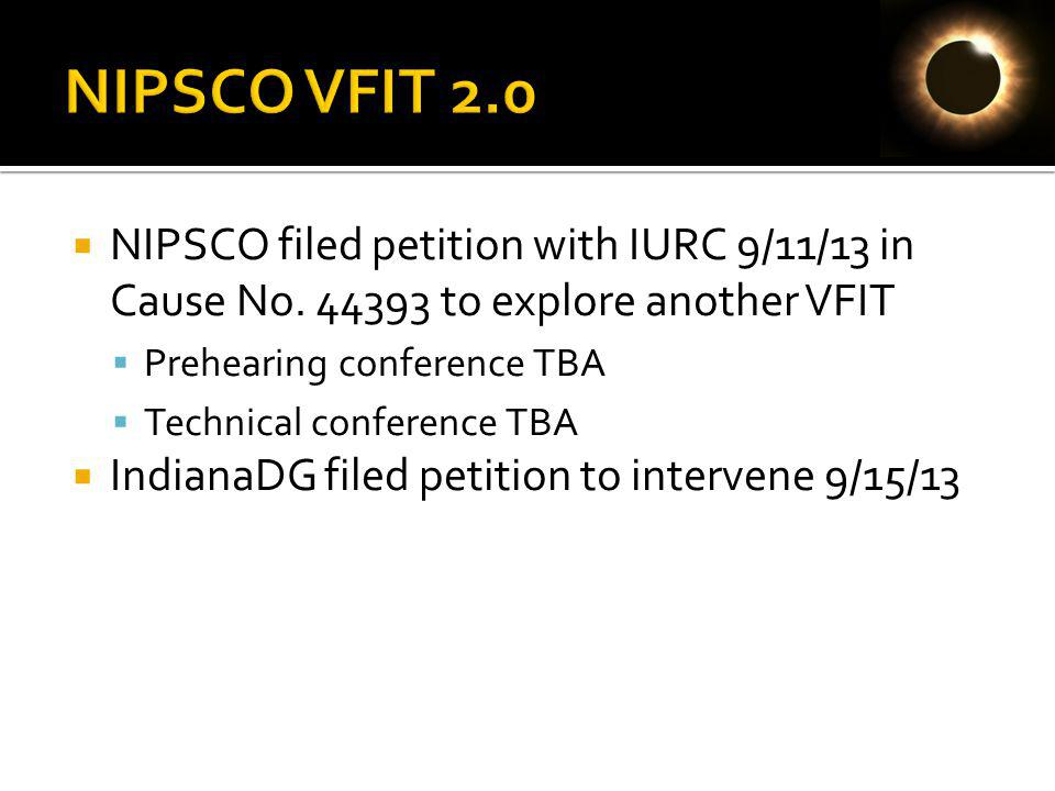 NIPSCO filed petition with IURC 9/11/13 in Cause No.