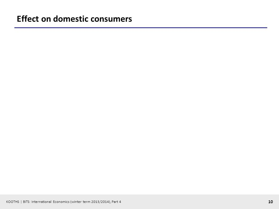 KOOTHS | BiTS: International Economics (winter term 2013/2014), Part 4 10 Effect on domestic consumers