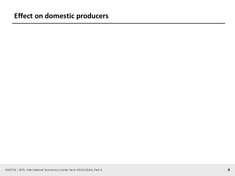 KOOTHS | BiTS: International Economics (winter term 2013/2014), Part 4 9 Effect on domestic producers