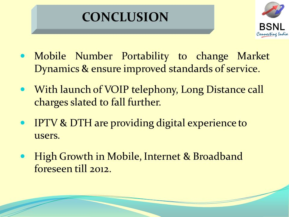 BSNL Mobile Number Portability to change Market Dynamics & ensure improved standards of service.
