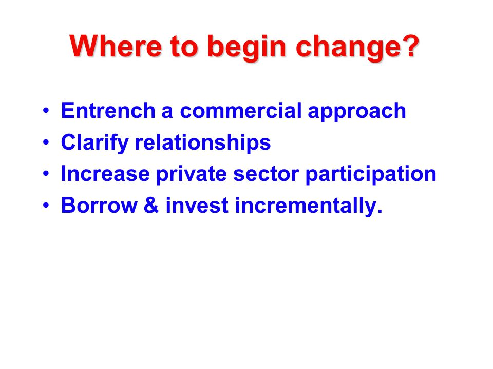 Where to begin change.