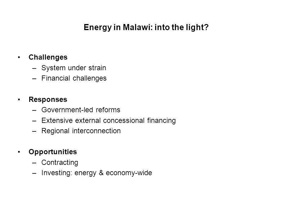 Energy in Malawi: into the light.