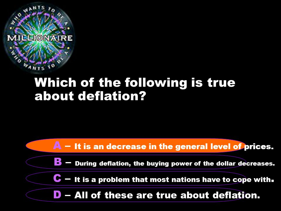Which of the following is true about deflation.