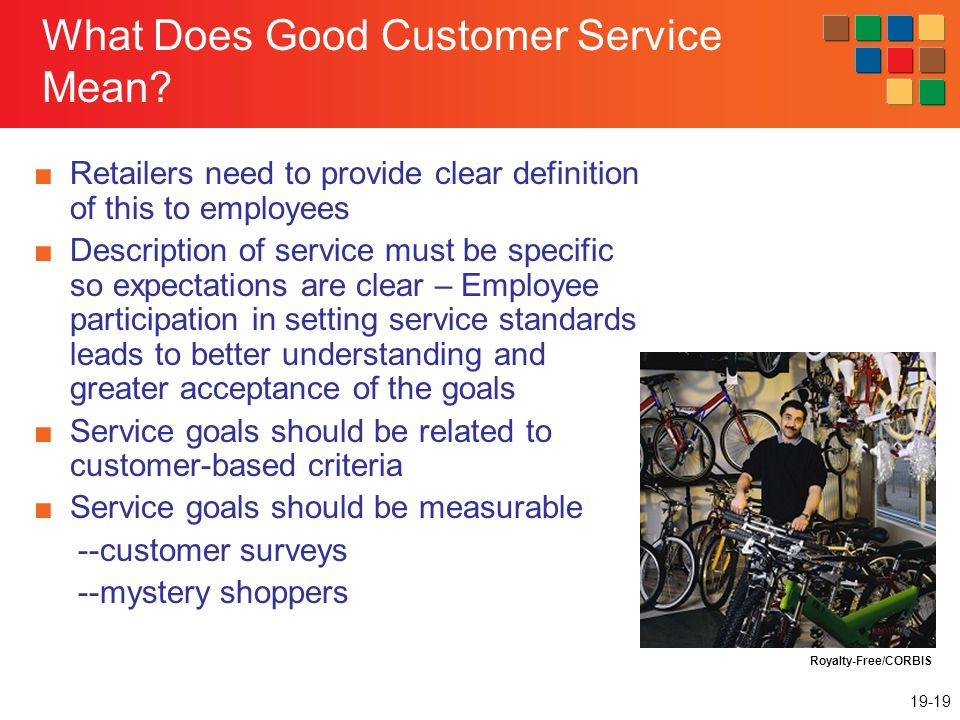19-19 What Does Good Customer Service Mean.
