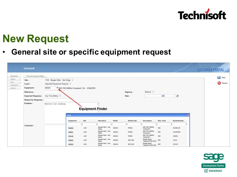 New Request General site or specific equipment request