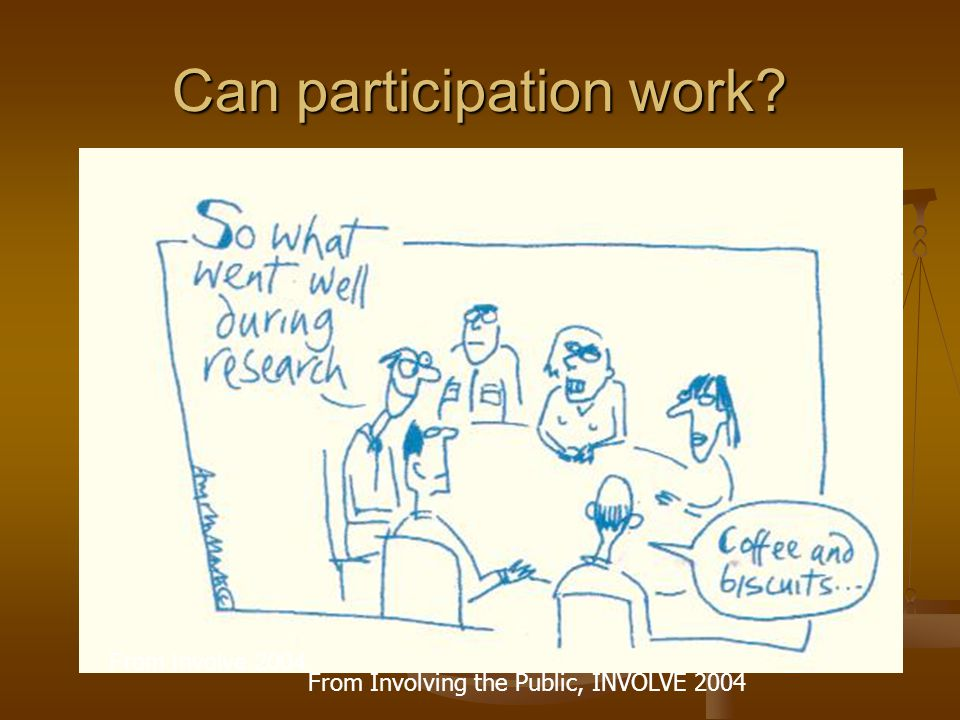 Can participation work From Involve 2004 From Involving the Public, INVOLVE 2004