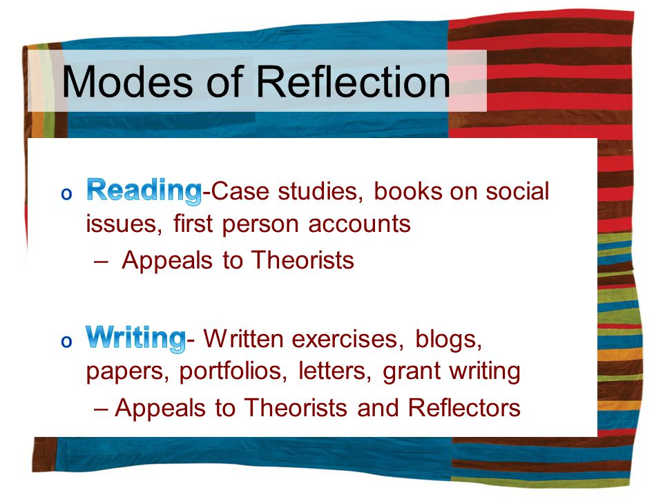Modes of Reflection