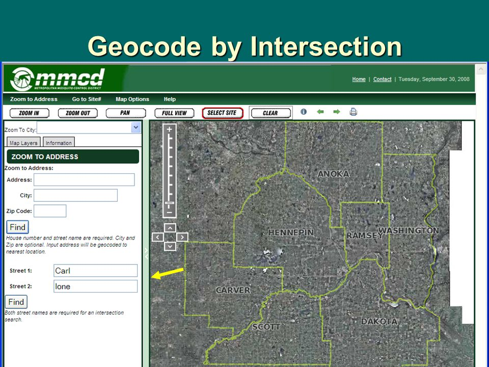 Geocode by Intersection