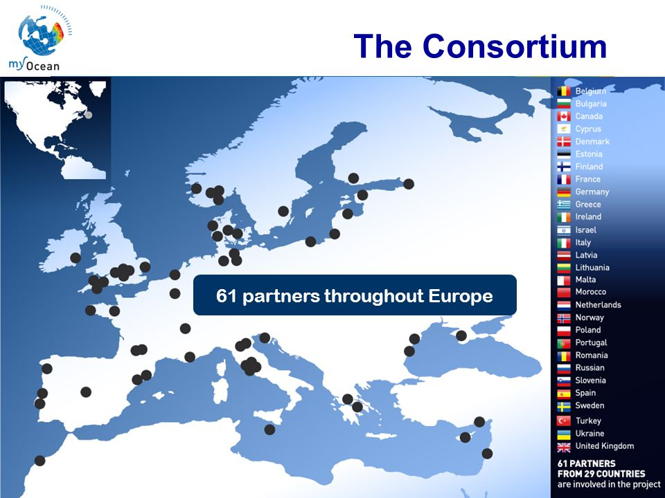 Marine Core Service The Consortium 61 partners throughout Europe