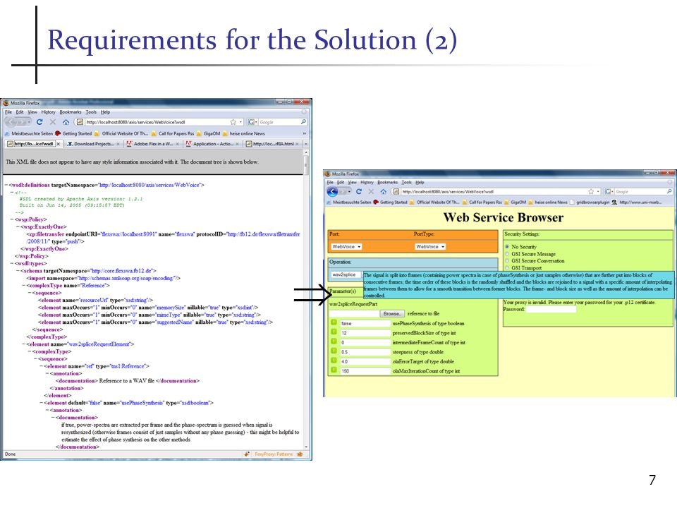 Requirements for the Solution (2) 7