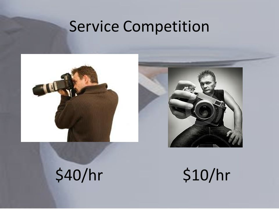 Service Competition $40/hr$10/hr