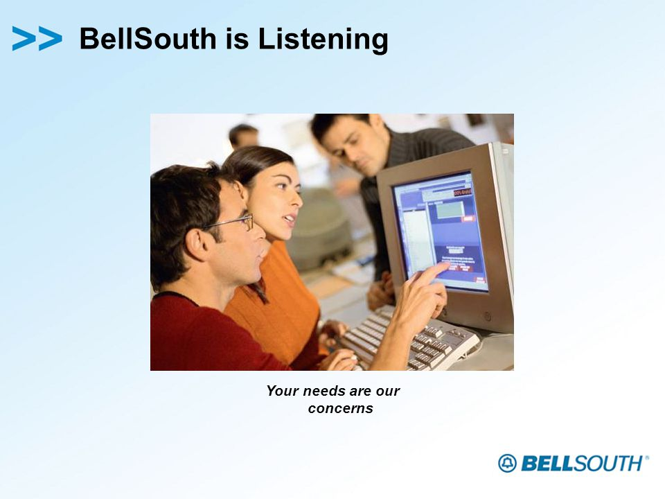 BellSouth is Listening Your needs are our concerns