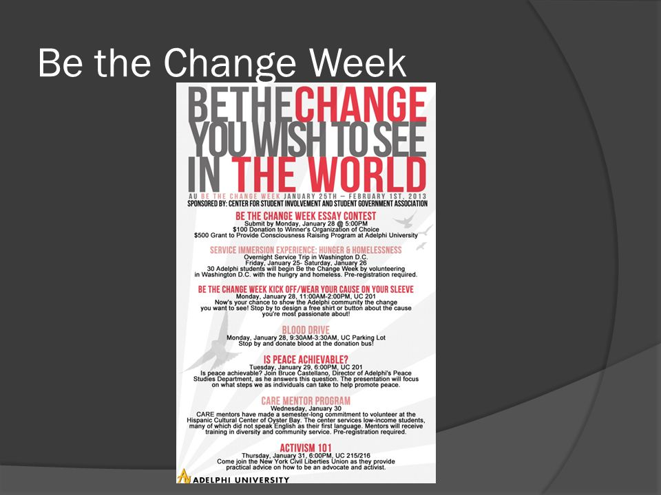 Be the Change Week