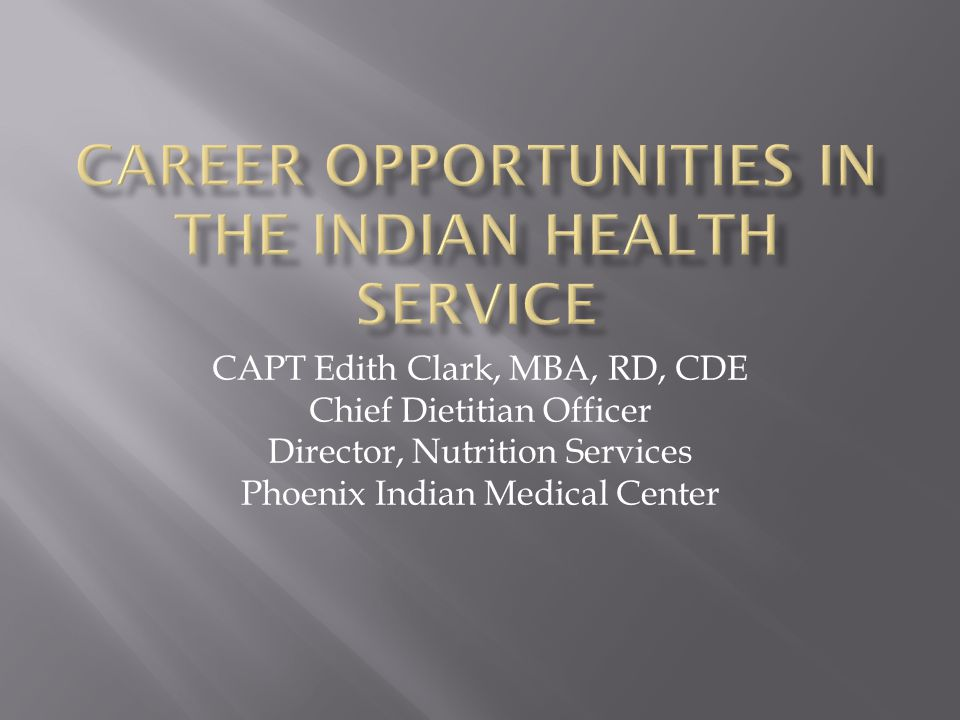 Capt Edith Clark Mba Rd Cde Chief Dietitian Officer Director