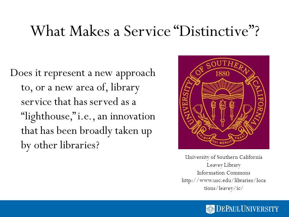 What Makes a Service Distinctive.